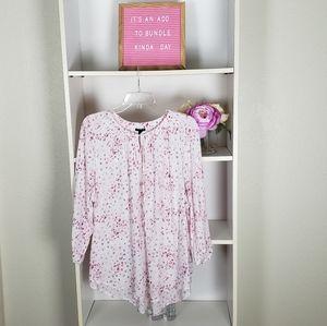 Torrid Pink Floral Top SZ2